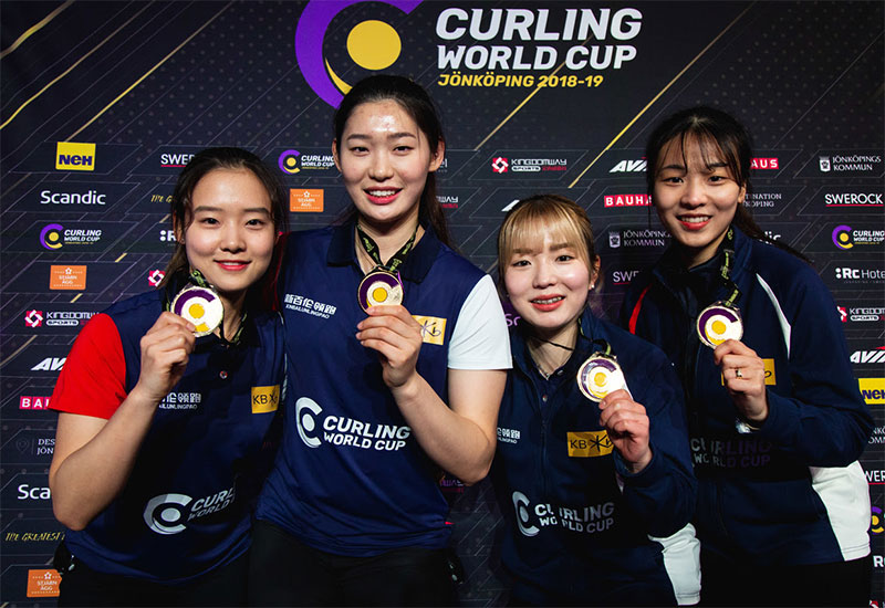 Korea's Minji Kim wins Curling World Cup