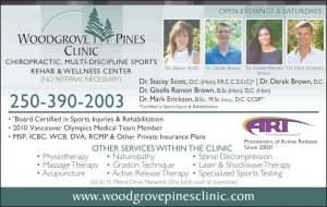Welcome to Woodgrove Pines Wellness Clinic Your Multi-Discipline, Sports Rehabilitation and Wellness Center in Nanaimo, BC