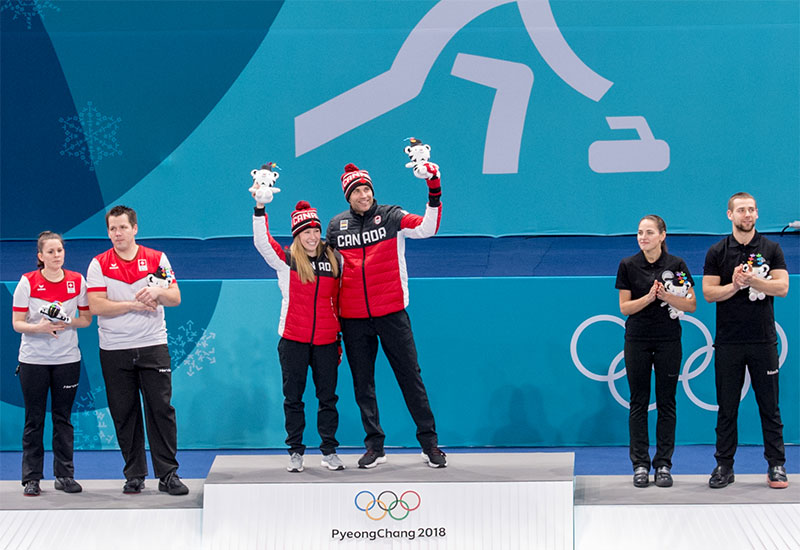 CANADA WINS OLYMPIC MIXED DOUBLES CURLING GOLD
