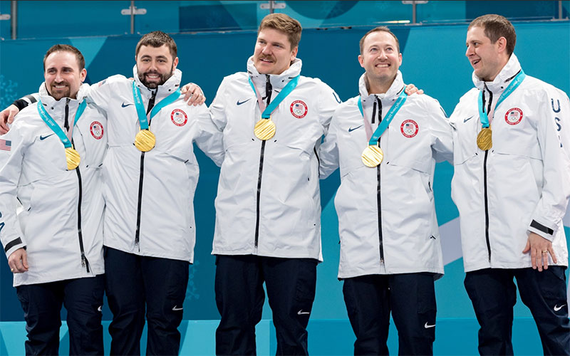 USA'S JOHN SHUSTER WINS OLYMPIC GOLD