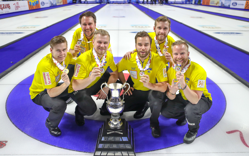 SWEDEN WINS WORLD CURLING CHAMPIONSHIP