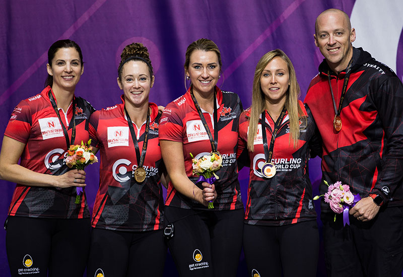 CANADA'S RACHEL HOMAN WINS CURLING WORLD CUP TITLE