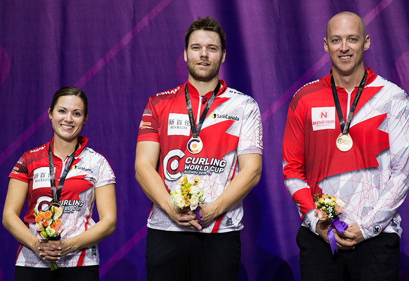 CANADA WINS CURLING WORLD CUP MIXED DOUBLES