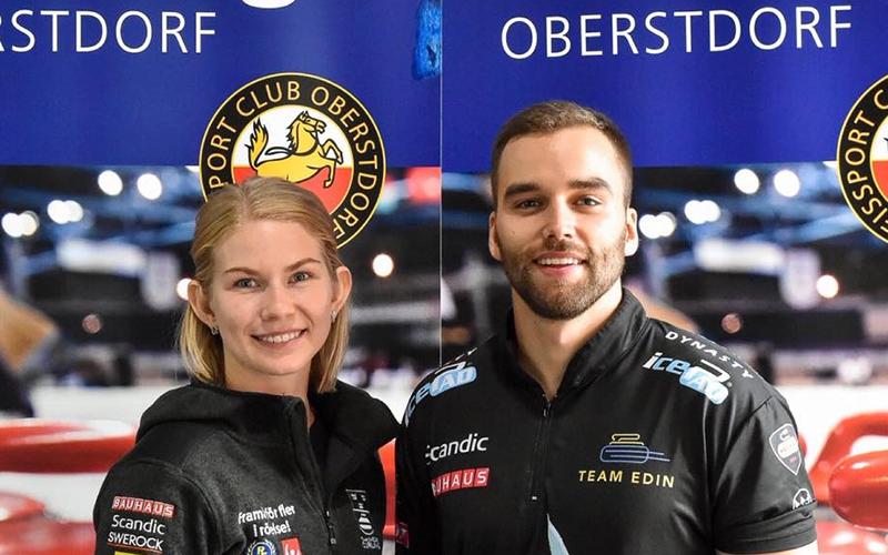 SWEDEN'S ALMIDA DE VAL/OSKAR ERIKSSON WIN THE OBERSTSDORF DOUBLES